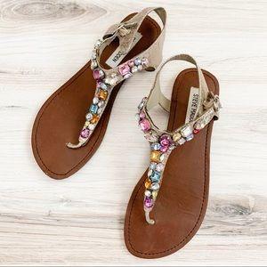 Steve Madden Shoes - Steve Madden Groom Multicolored Jeweled Sandals